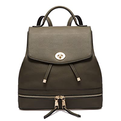 durable service AMELIE GALANTI PU Leather Casual College Backpack Fashion Bag For Women Briefcase