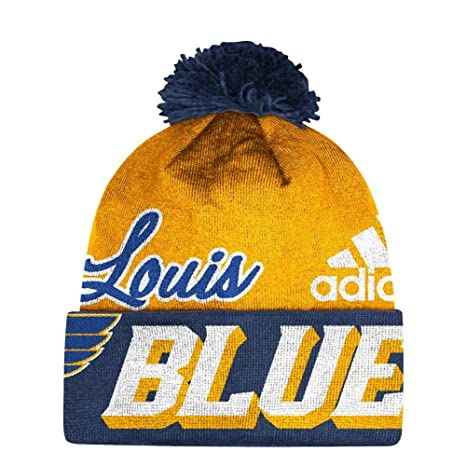 df271993751 Image Unavailable. Image not available for. Color  adidas Saint Louis Blues  St Beanie NHL Cuffed Pom Knit