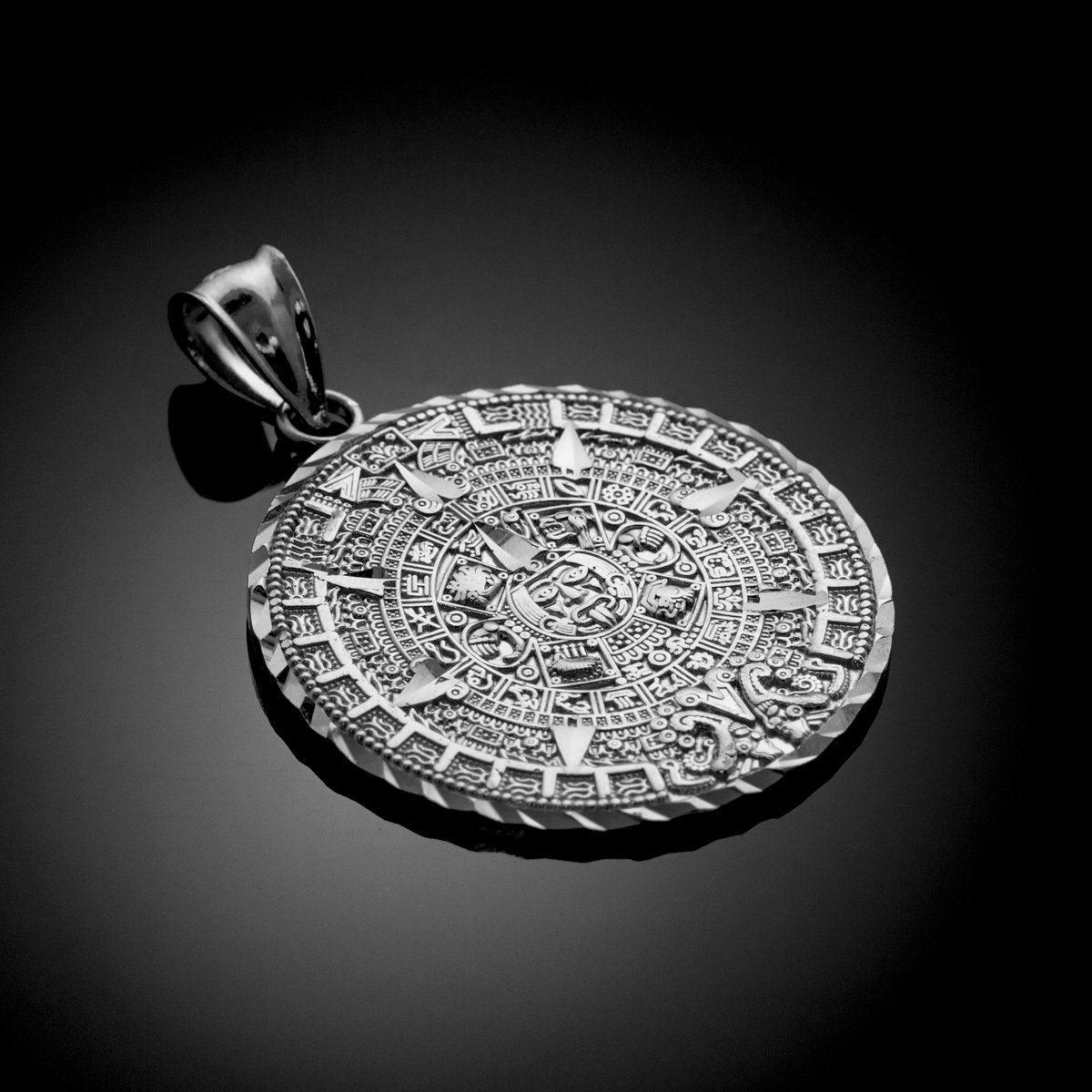 Amazon 925 sterling silver aztec charm mayan calendar pendant amazon 925 sterling silver aztec charm mayan calendar pendant 254 millimeters silver coin pendant jewelry aloadofball Image collections