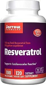 Jarrow Formulas Resveratrol, Supports Cardiovascular Function, 100 mg, 120 Veggie Caps