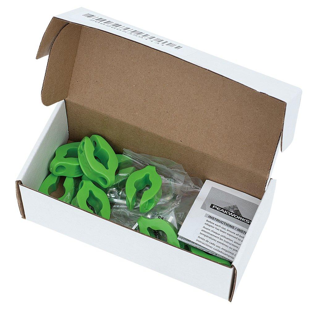 green Peakworks V8561201 Round Clamp 5//8 Tool Tethering System