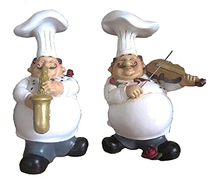 Amazon Home Decor And Beyond Adorable Musicians Chefs Set Of 2