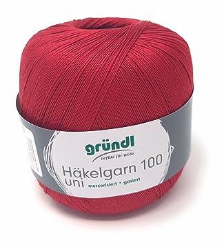 Häkelgarn 100 Gramm Baumwolle Filet Garn Häkeln Farbe Weinrot125