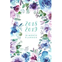 "2018 2019 | 18 Month Planner: Watercolour Floral, July 2018 - December 2019, 6"" x 9"""