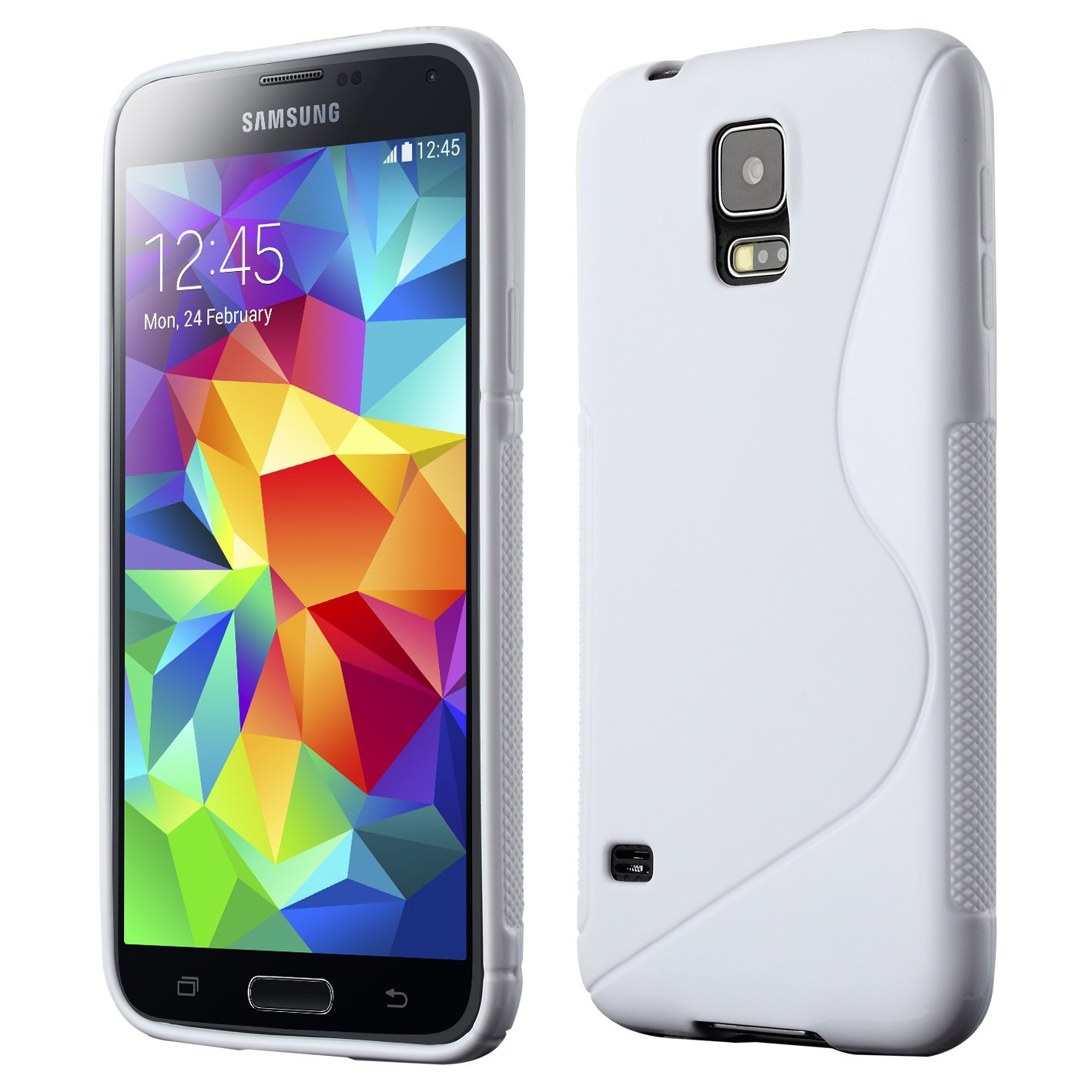 Galaxy S5 Case, Cruzerlite S-Line TPU Case Compatible for Samsung Galaxy S5 - Blue