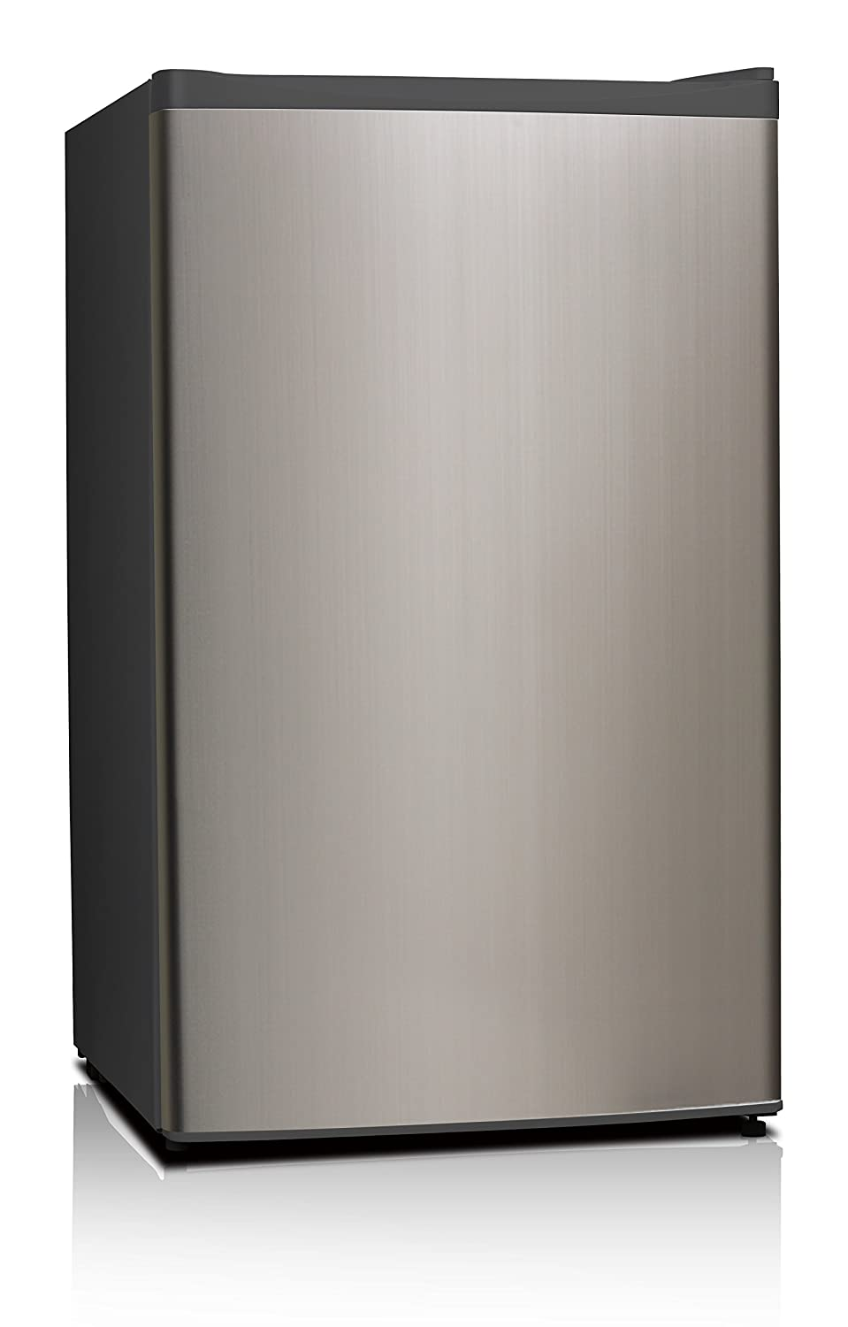 Midea WHS-121LSS1 Compact Single Reversible Door Refrigerator and Freezer, 3.3 Cubic Feet, Stainless Steel