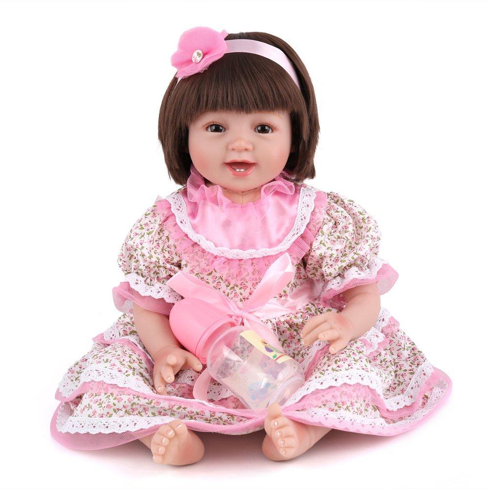 el precio más bajo QXMEI 22 Pulgadas Niña Niña Niña Renacer Muñeco De Simulación Bebé Creativo Regalo De Cumpleaños Muñeco De Silicona Suave De Juguete 55 Cm  la mejor oferta de tienda online