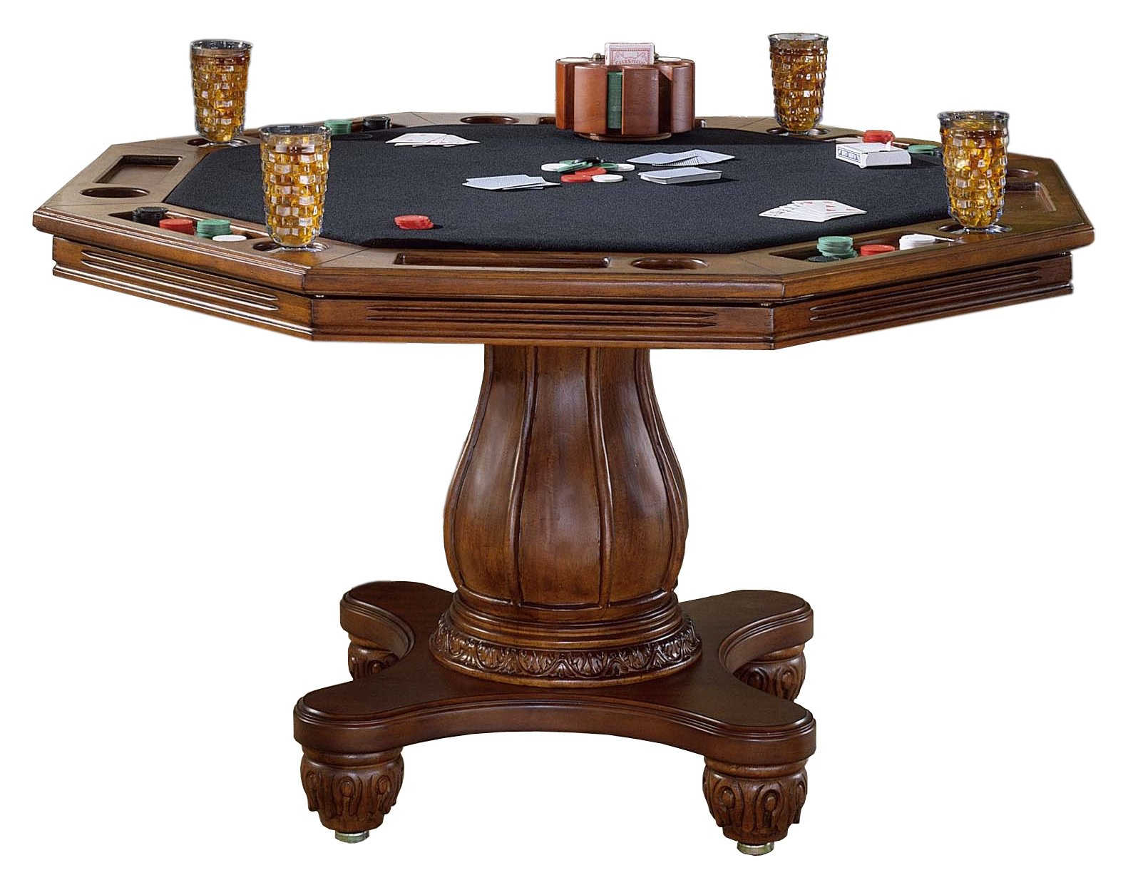 Hillsdale Furniture Hillsdale Kingston Game Table, Medium Cherry by Hillsdale Furniture