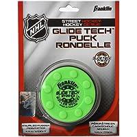 FRANKLIN - Streethockey-Puck Glide Tech Pro NHL I Puck für Roller-& Inlinehockey  I Straßenhockey-Puck I für alle Oberflächen geeignet I PVC Puck mit niedriger Reibung I hohe Geschwindigkeit  - Grün