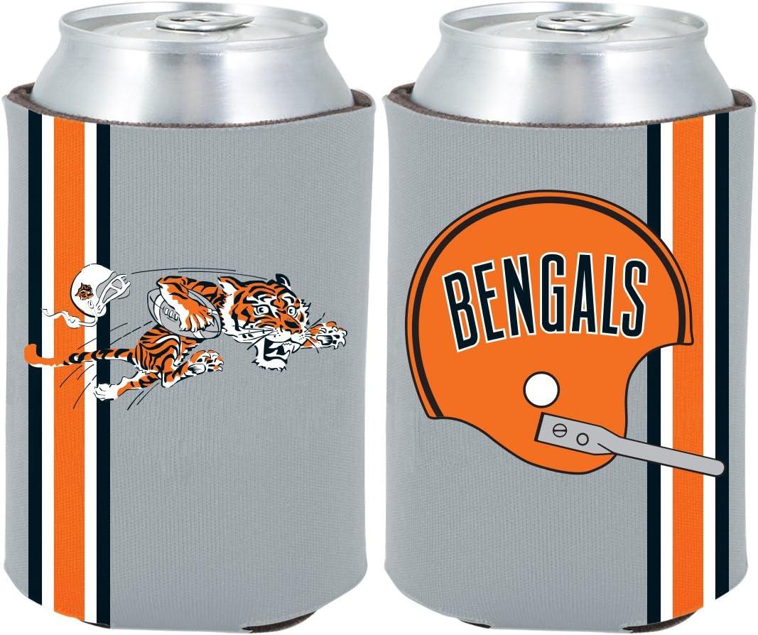 Cincinnati Bengals 2-Pack CAN Retro Throwback Beverage Insulator Neoprene Holder Cooler Coolie Football
