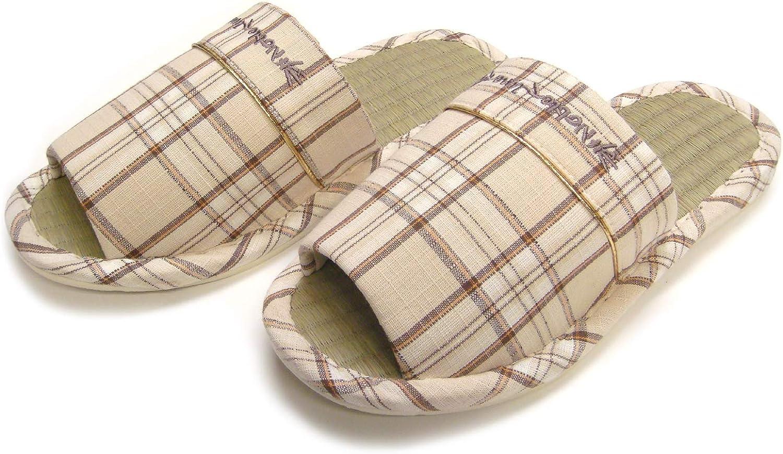 Men Wide Width Open-Toe Bamboo House Slippers#26019T