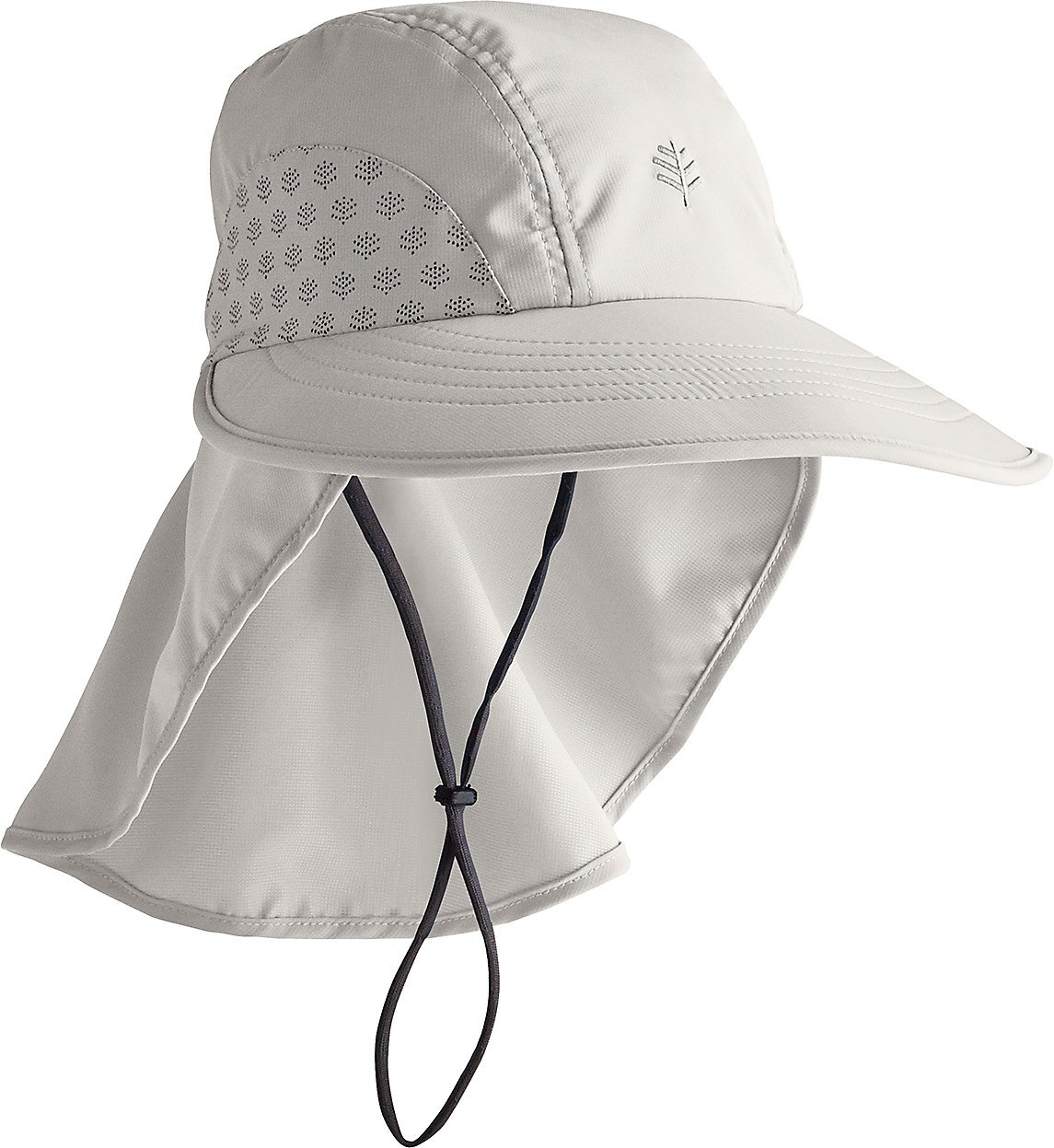 Coolibar UPF 50+ Kids' Explorer Hat - Sun Protective (Small/Medium- Light Grey)