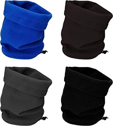 Balaclava Fleece Snood Open Face Fishing Ski Bike Cycling Neck Warmer Gaiter Hat