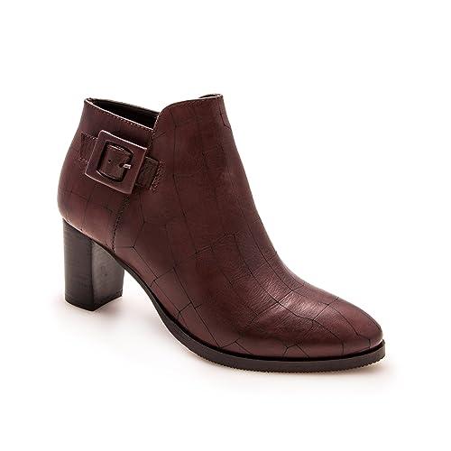 Zerimar Botines de Piel | Botines Mujer Tacon Medio | Botines Mujer Cuero | Botines Piel Tacon Mujer: Amazon.es: Zapatos y complementos
