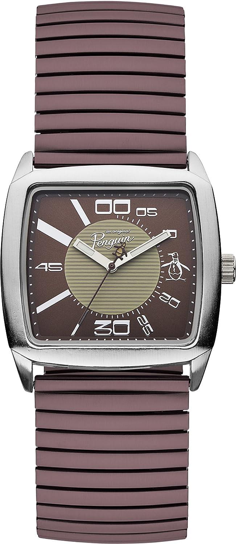 Original Penguin OP5010BR - Reloj analógico de Cuarzo para Hombre ...