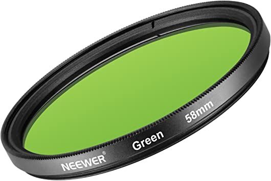 Neewer 58mm Filtro de Lente Verde para Canon EOS Rebel T6i T6 T5i ...