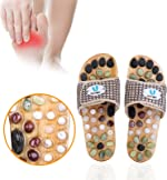 Acupressure Massage Slippers with Earth Stone, Therapeutic Reflexology Sandals for Foot