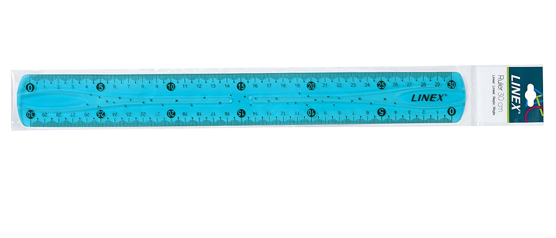 Hobby und Schule kann grenzenlos verdreht werden mit Griffmulde Rechts- und Linksh/änder geeignet f/ür Beruf LINEX 400081962 Flex Flexibles-Lineal 30 cm blau aus Silikon unzerbrechlich unkaputtbar