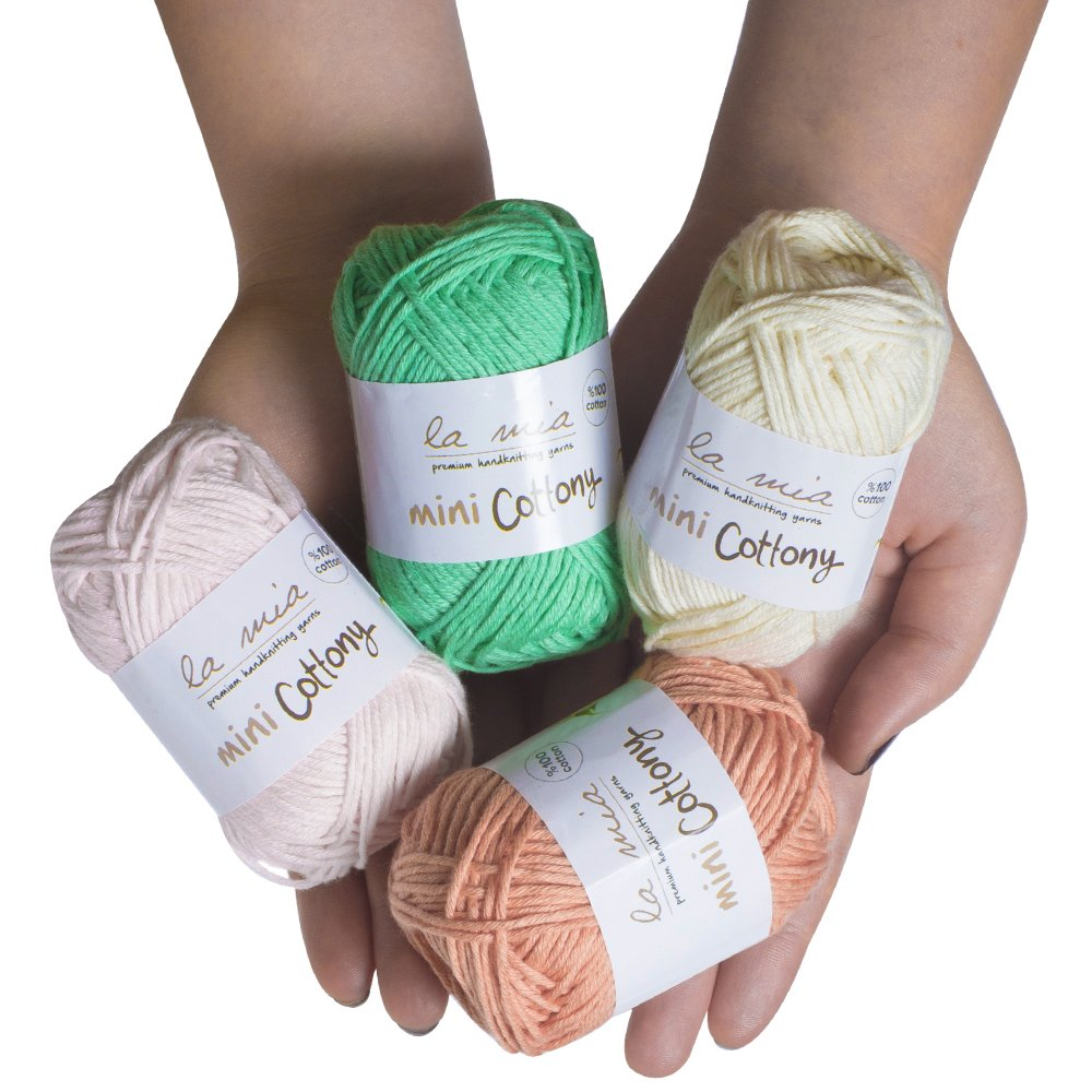 20 Skein %100 Cotton Mini Yarn, Total 17.6 Oz Each 0.88 Oz (25g) / 65 Yrds (60m), Light, Dk, Worsted Assorted Colors Yarn by Lamia (Image #2)