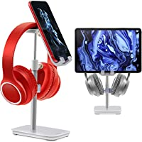 Headphone Stand & Phone Stand for Desk, Rotate360° Adjustable Height Angle, ESOLEI Premium Phone Holder for Desk with…