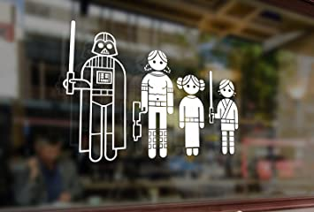 Amazoncom Cm Fun Stick Family Star Wars Jedi Wader Vinyl - Family decal stickers for carsamazoncom stick family stick family car window wall laptop decal