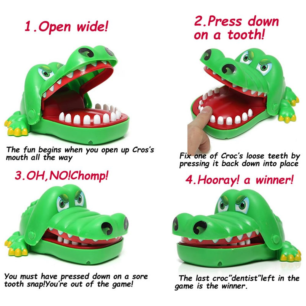 Buy Oun Nana Crocodile Dentist - Crocodile Biting Finger Game Funny Toys  Online at Low Prices in India - Amazon.in 2060f5f0e6