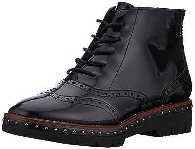 Marco Tozzi Damen 25258 Combat Boots, Schwarz (Black Patent