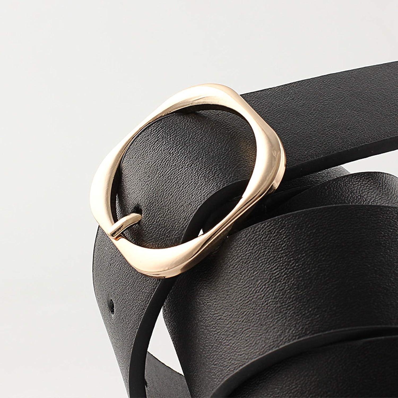 Beydodo Cinturones de Cuero Para Hombre Anchos Cinturon Hombre Largo 90CM Cinturones de Cuero Anchos