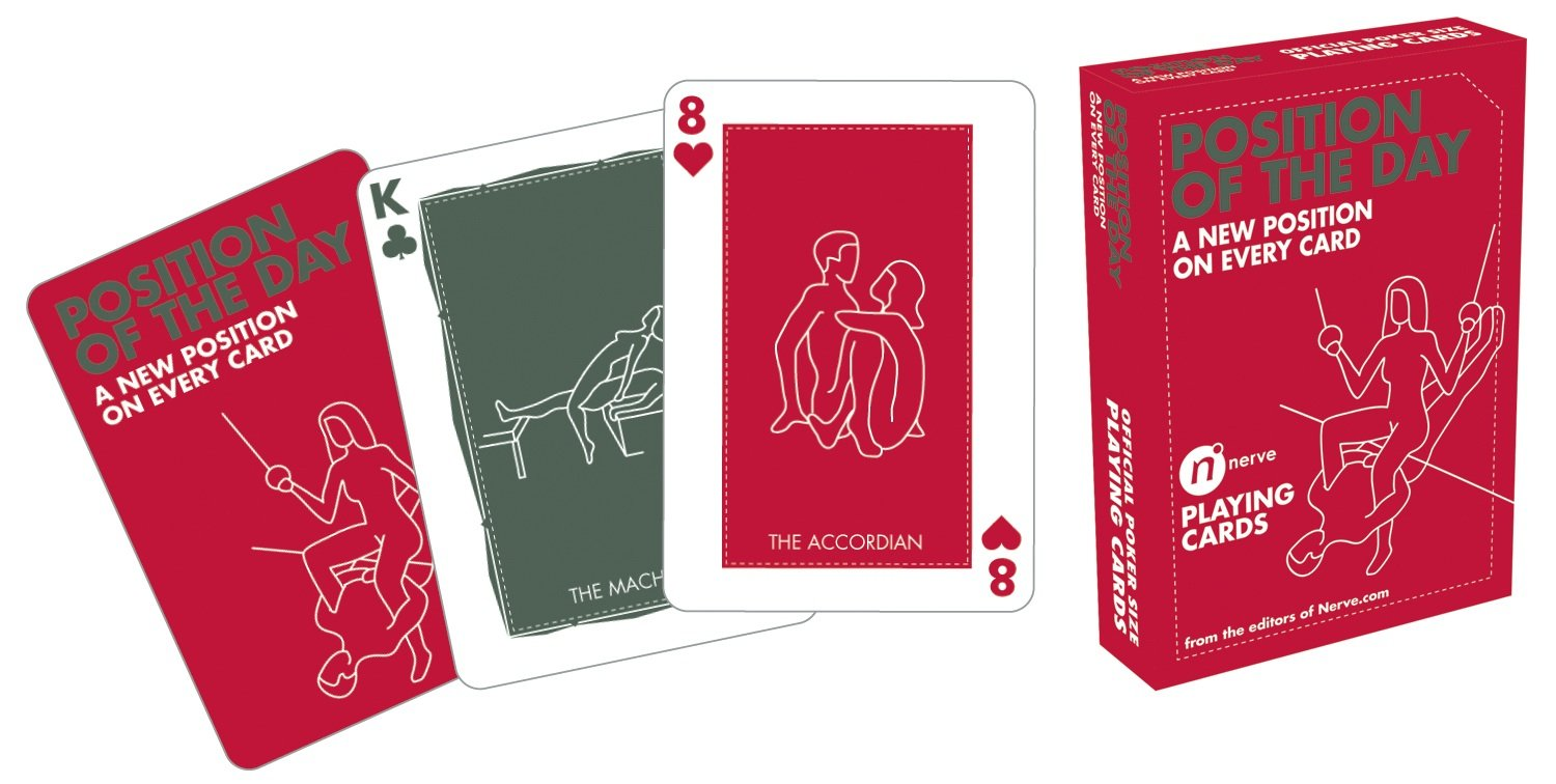 A pack of cards can help you to randomly choose a sex position to try