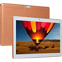 Alician 10.1 Pulgadas 4+64G HD Juego Tablet PC Ten Core Android 8.0 GPS 3G WiFi Dual Camera, US Plug, Dorado