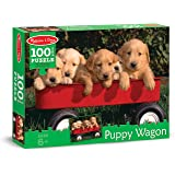 Melissa & Doug Puppy Dogs in a Wagon Jigsaw Puzzle (100 pcs)