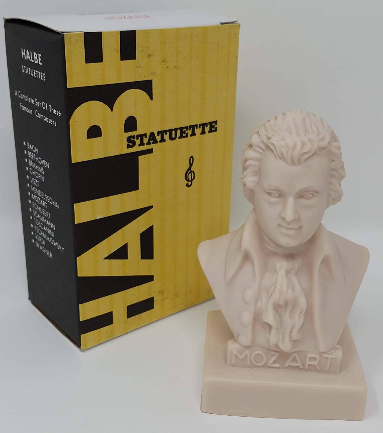 """Set of 12 Halbe Musical Composer Statuettes 5/"""""""