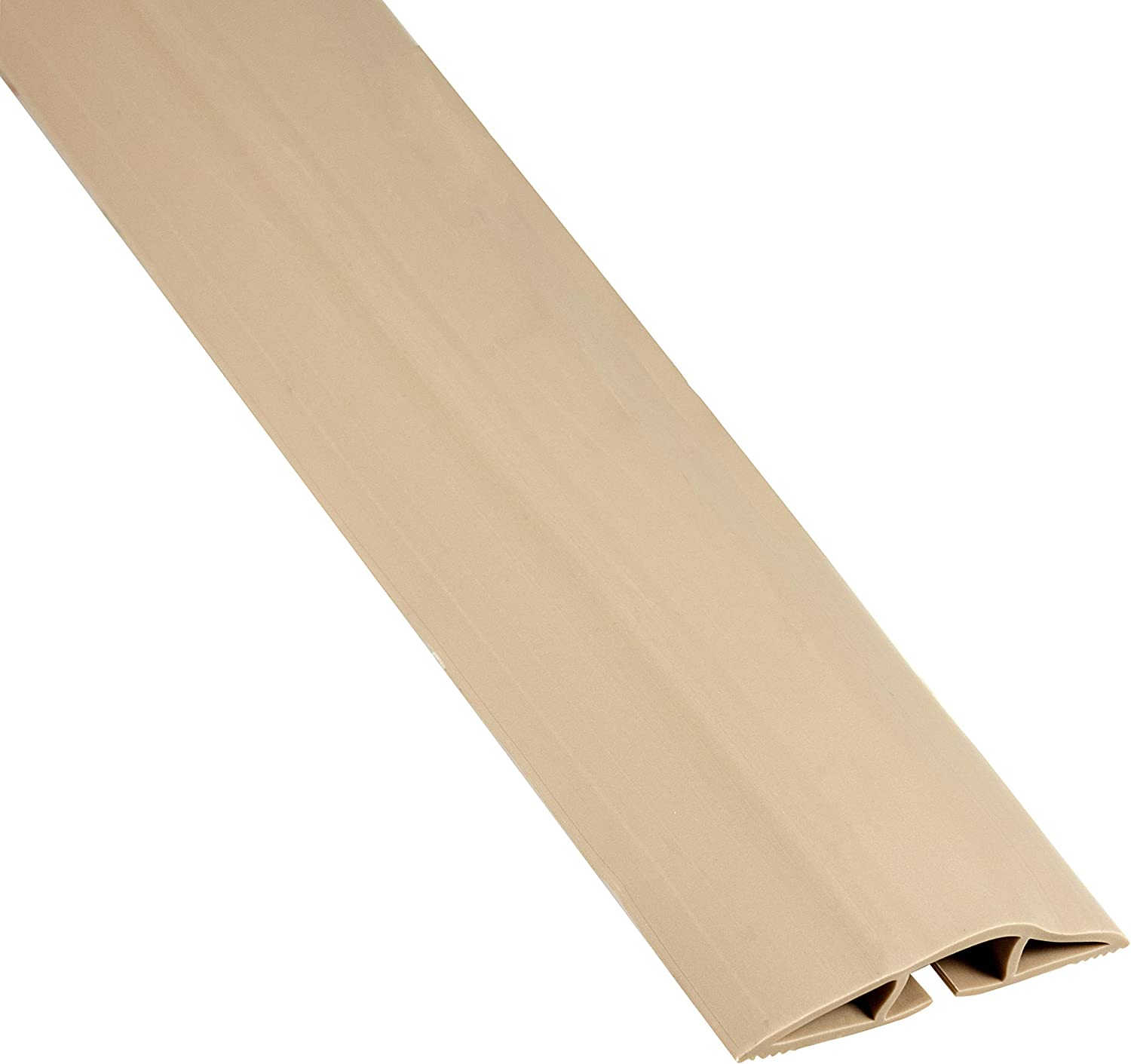 Cordinate, Tan, 6 Ft Floor Cord Cover, Rubber, Low Profile, Cable Protector, 49629, 6 Ft, 6 Ft