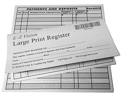 amazon com large print checkbook register low vision 2018 19 20