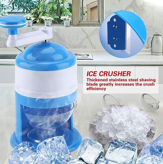 DIY Manual Shaver Ice Crusher Grinding Hand Crank Snow Cone Summer Frozen Drinks
