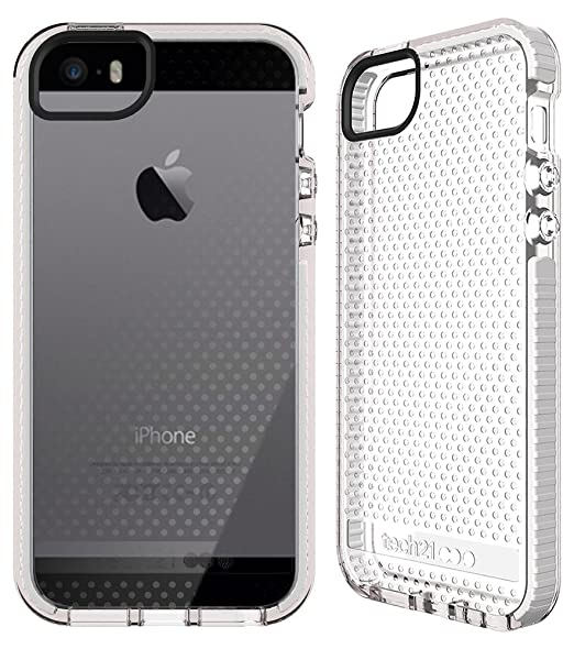 low priced 97c39 e8c9a Tech21 Evo Mesh Case For IPhone SE IPhone 5/5S (Clear White): Amazon ...