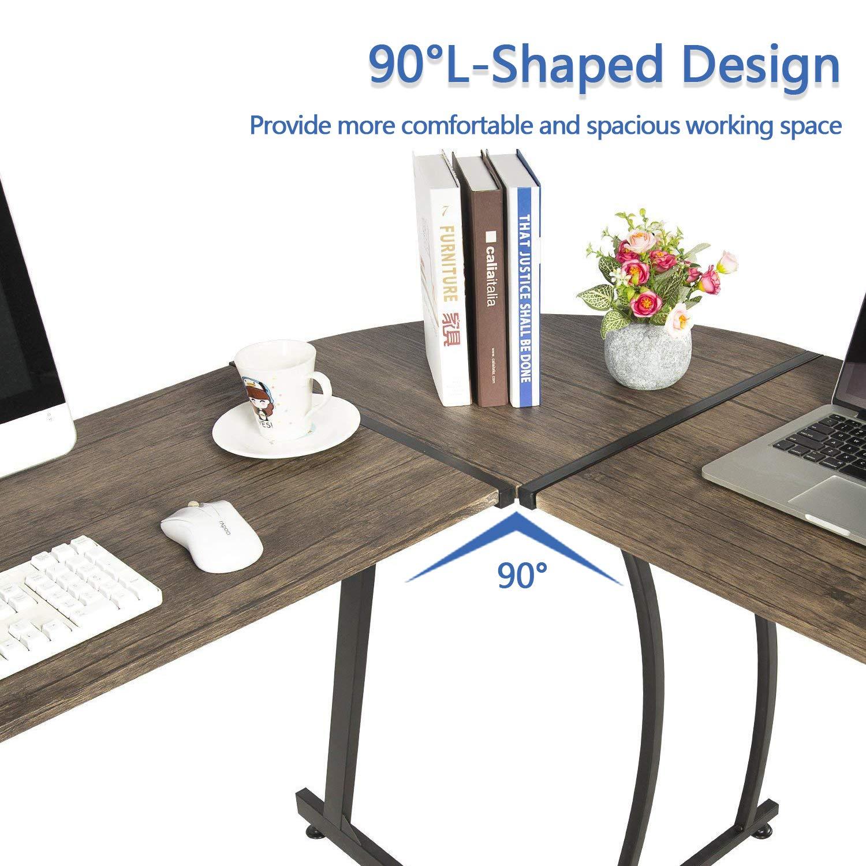 Amazon.com: GreenForest - Mesa de escritorio esquinera en ...