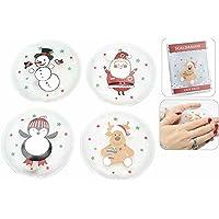 Scaldamani (4 PEZZI) tascabile riutilizzabile all'infinito natalizio trasparente con decorazioni di Natale in confezione pvc