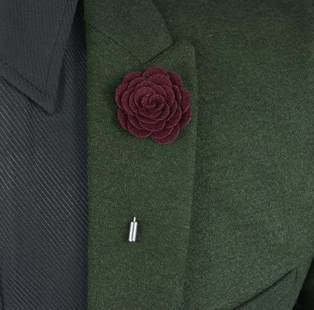 usix 14pc pack-handmade Hombres de Pin de solapa rosa de lana de ...