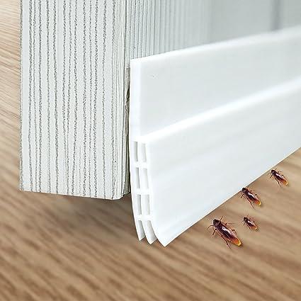 Weatherproof Under Door Seal - Upgraded version Jr.White Door Sweep Door Draft Stopper & Weatherproof Under Door Seal - Upgraded version Jr.White Door Sweep ...