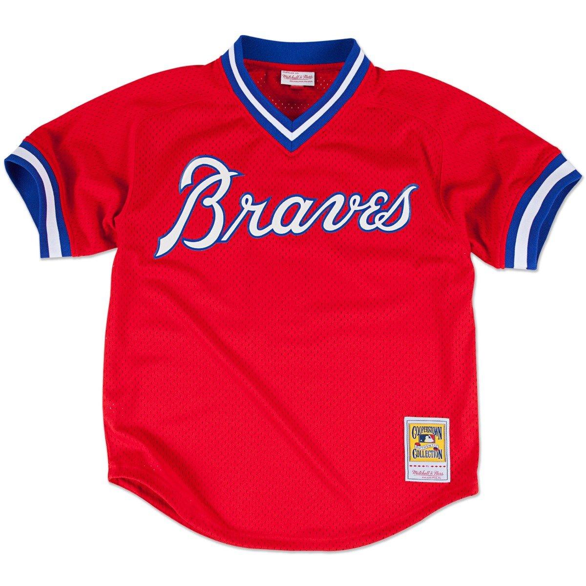 ad8f6c73 Amazon.com : Mitchell & Ness Dale Murphy Atlanta Braves MLB 1980 Authentic  Mesh BP Jersey : Clothing