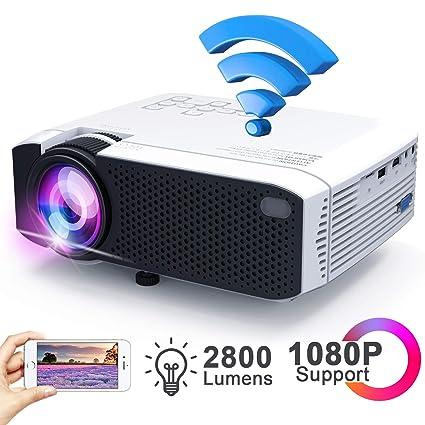 Amazon.com: Ifmeyasi - Proyector de vídeo inalámbrico (2800 ...