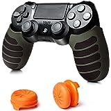 【7Gadget】PS4 コントローラー DUALSHOCK4 グリップ カバー & FPS フリーク PS4用 並行輸入品 滑り止め 高品質シリコンカバー 【グリーン】