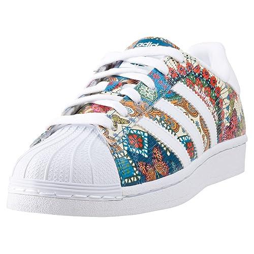 adidas Superstar W, Zapatillas de Deporte para Mujer, Blanco Ftwbla/Aguama, 43 1/3 EU: Amazon.es: Zapatos y complementos
