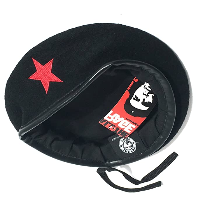 Amazon.com: Che Guevara Store Black Military Beret with Red Star: Novelty T Shirts: Clothing