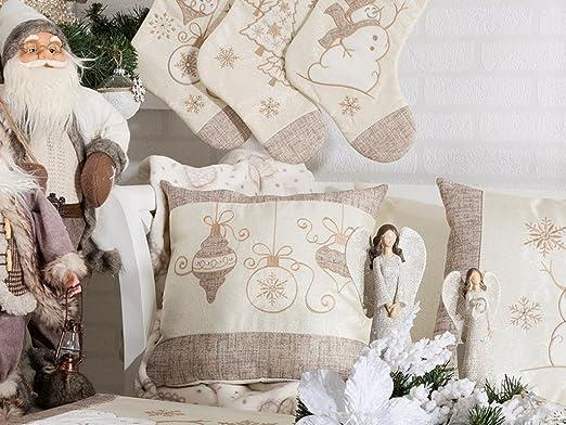 La Chandelle Lou Navidad Cojín Almohada con Relleno, 40 x 40 ...