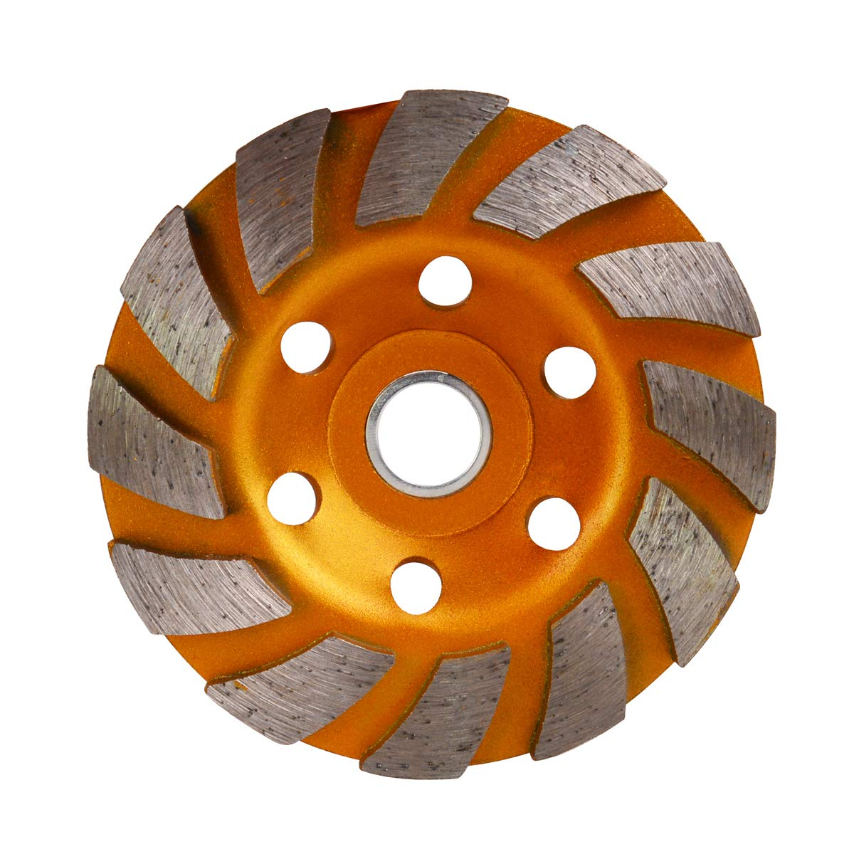 TECKE 4 inch Concrete Turbo Diamond Grinding Cup Wheel for Angle Grinder 12 Segs Heavy Duty