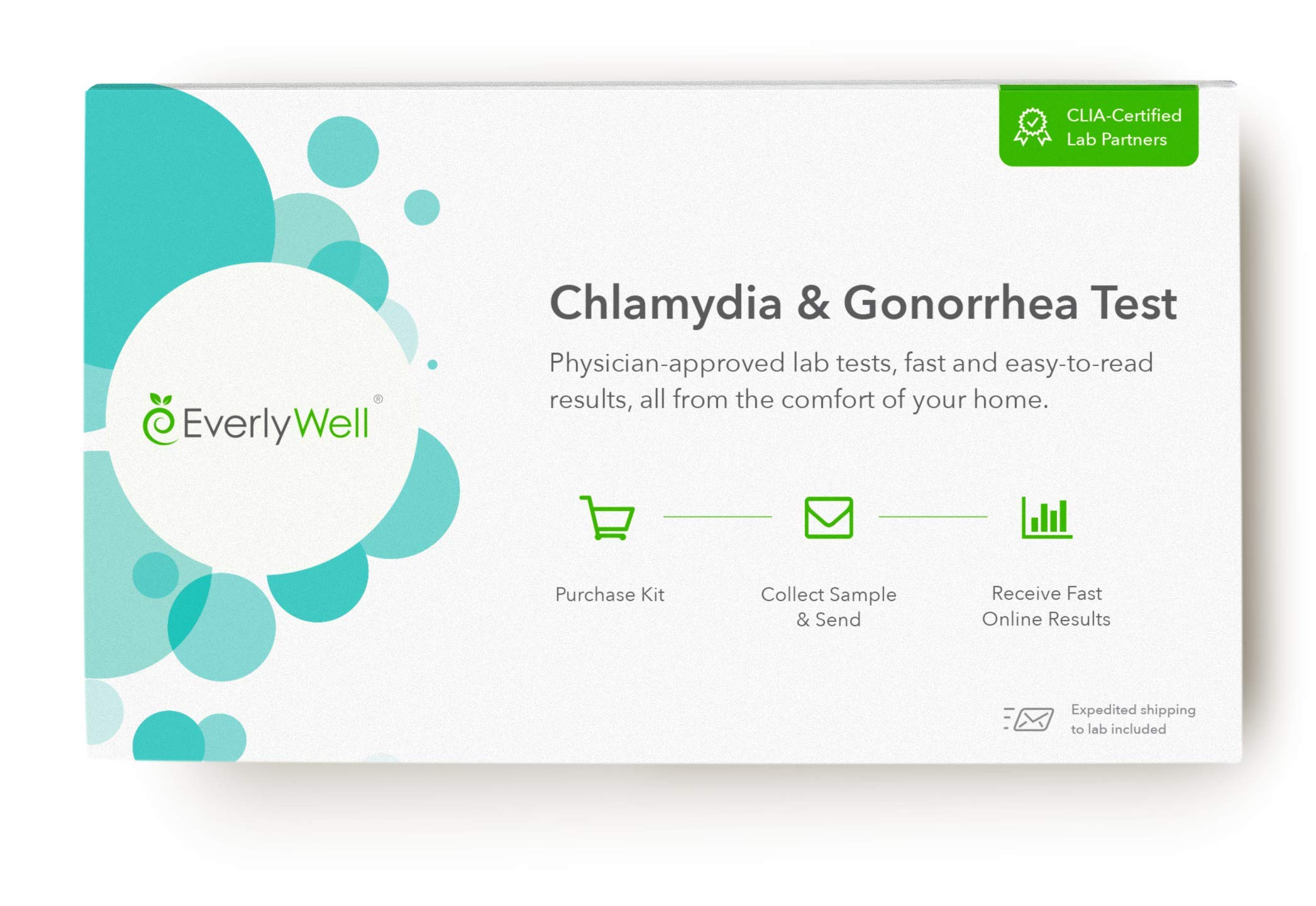 EverlyWell - at-Home Chlamydia and Gonorrhea Test - Discreetly Test for Chlamydia and Gonorrhea (Not Available in NY, NJ, RI, MD)