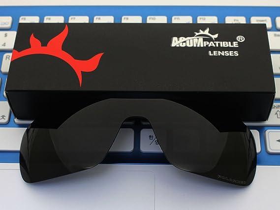 0d3b4fa083 Amazon.com   ACOMPATIBLE Replacement Lenses for Oakley Turbine Rotor  Sunglasses OO9307 (Black - Polarized)   Sports   Outdoors