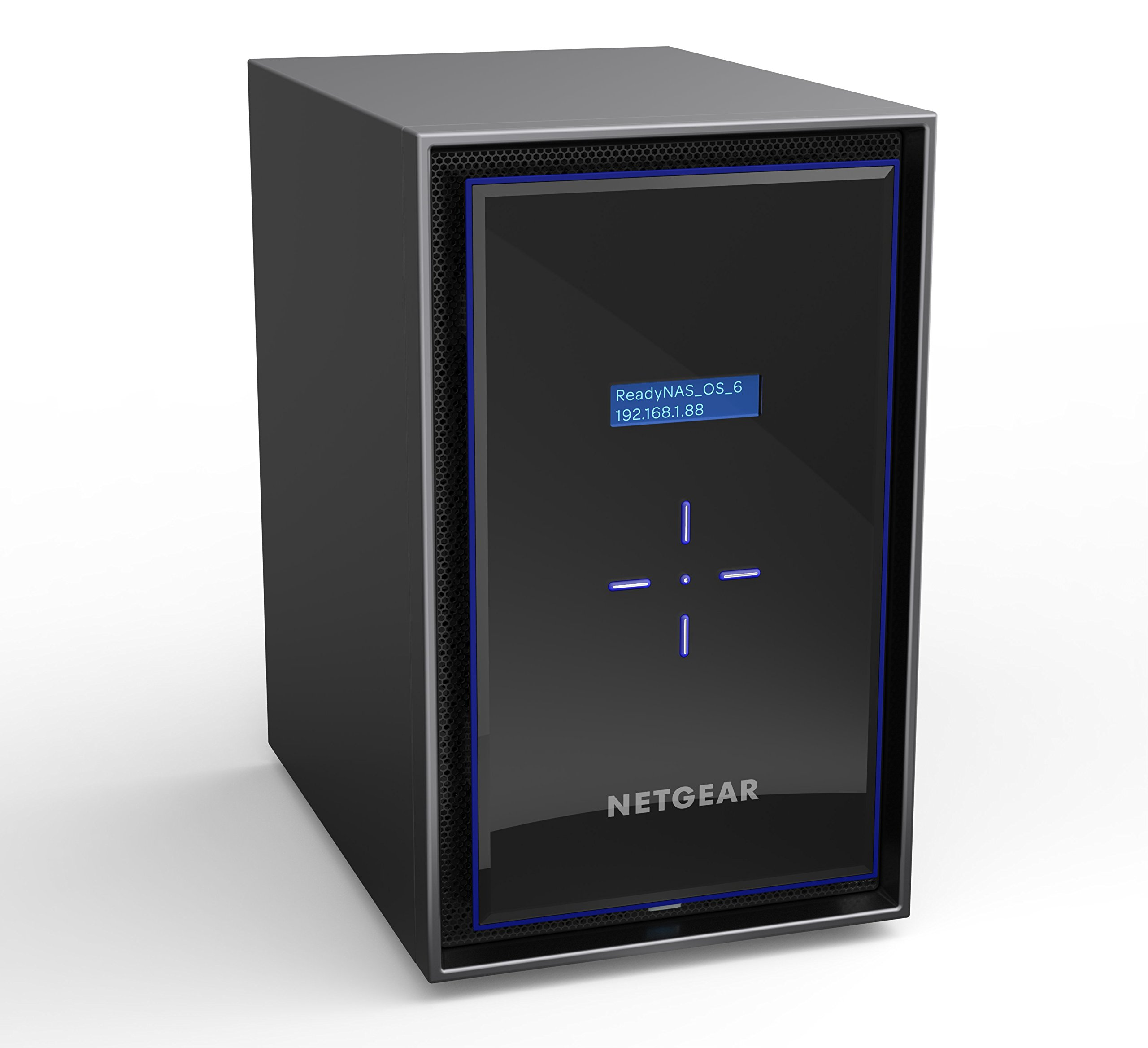 NETGEAR ReadyNAS RN428 8 Bay Diskless High Performance NAS, 80TB Capacity Network Attached Storage, Intel 2.1GHz Quad Core Processor, 4GB RAM, (RN42800)